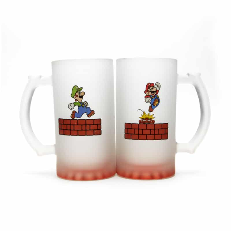 Kit Canecas de Chopp Super Mario Bros