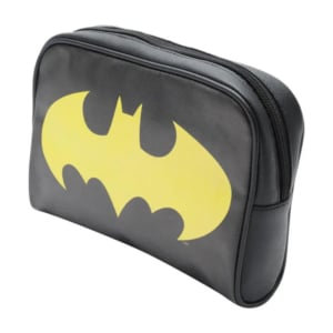 Necessaire OR Batman Logo Preto/Branco - Dc Comics