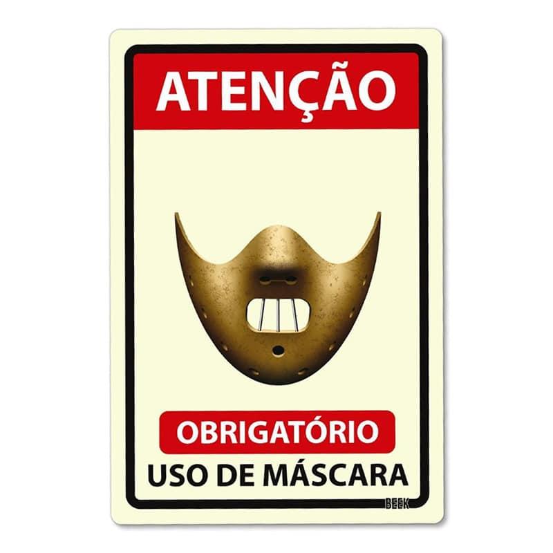 Placa Use Máscara - Killer