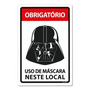 Placa Decorativa Use Máscara - Lorde Negro