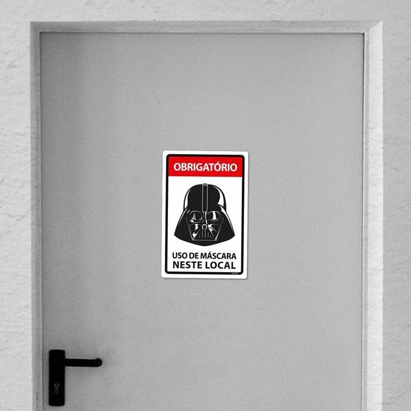 Placa Use Máscara - Lorde Negro