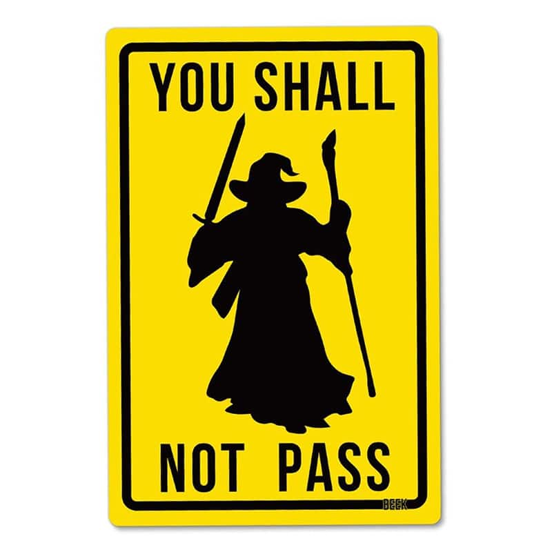 Placa Decorativa Shall Not Pass