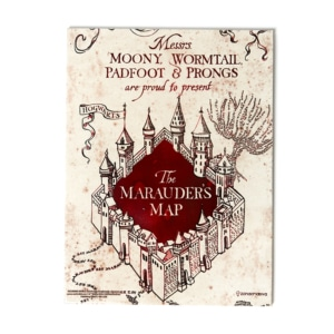 Quadro de Metal Mapa do Maroto - Harry Potter