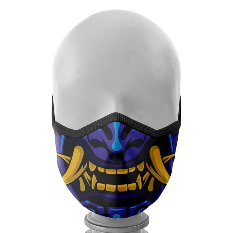 Máscara de Tecido Samurai Azul