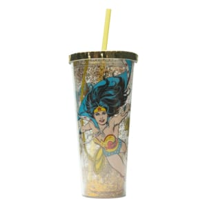 Copo com Canudo WB Wonder Woman Windy - DC Comics