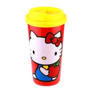 Copo com Tampa Hello Kitty Apple