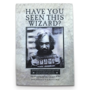 Postal Holográfico - Sirius Black Wanted - Harry Potter