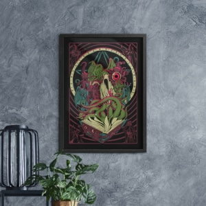 Quadro Decorativo Necronomicon
